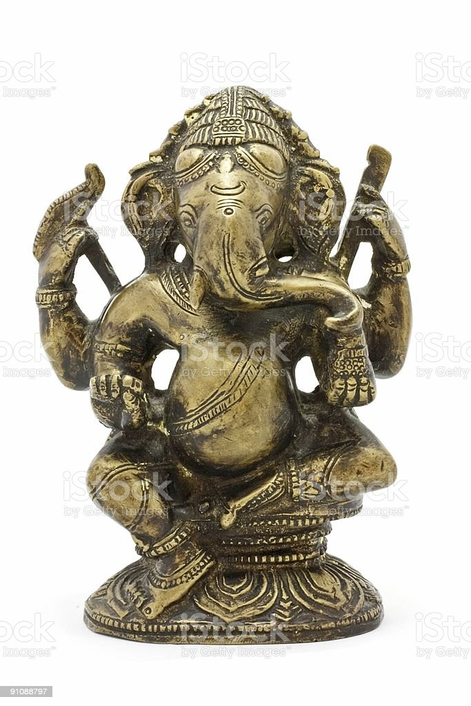Ganesha from copper stock photo