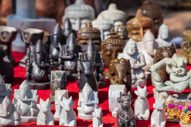 Ganesha indian elephant figurines, India stock photo