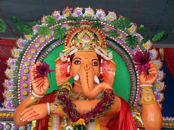 Ganesha is greeting stock photo