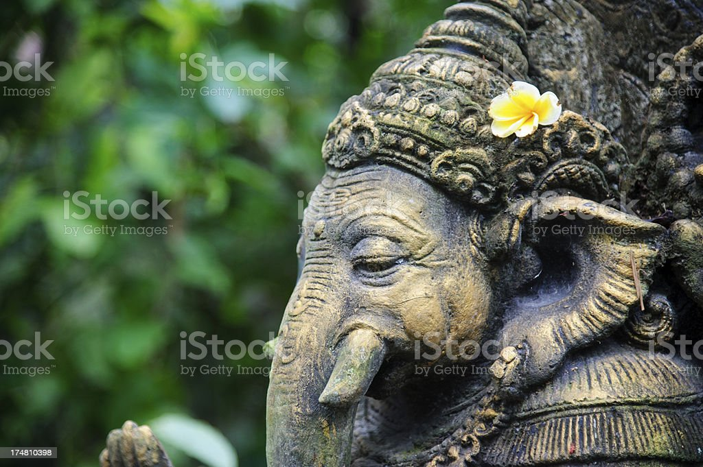 Ganesha made of stone in bali stock photo