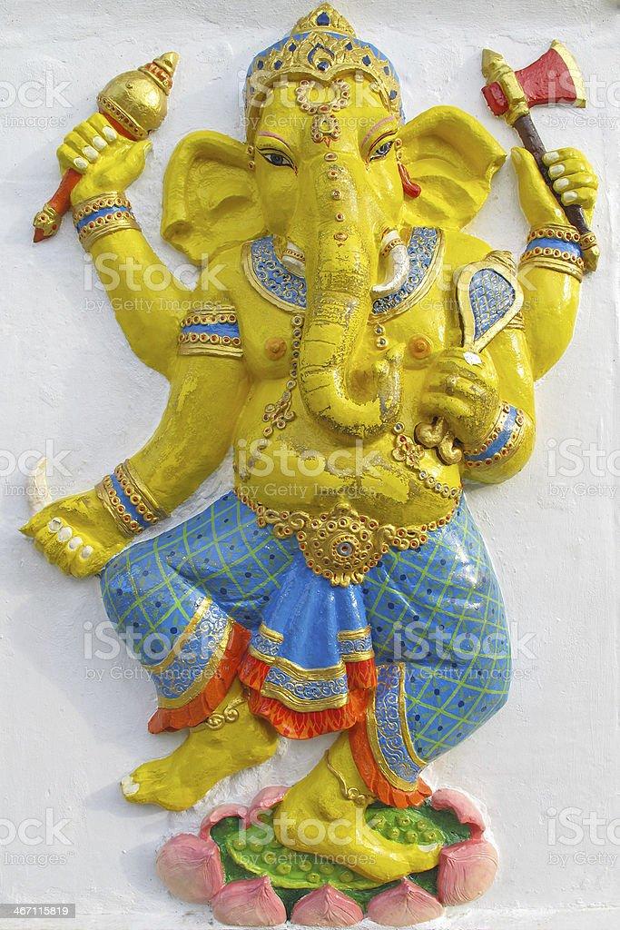 Ganesha stand on a lotus royalty-free stock photo
