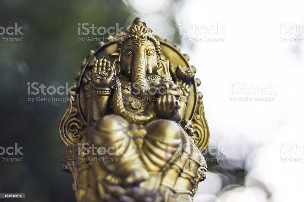 Ganesha Statue And Bokeh royalty-free stock photo