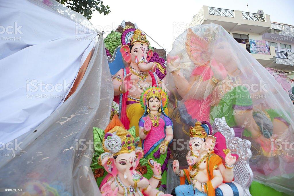 Ganesha statues in New Delhi royalty-free stock photo