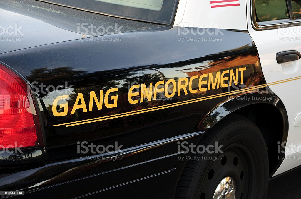 Gang car stock photo