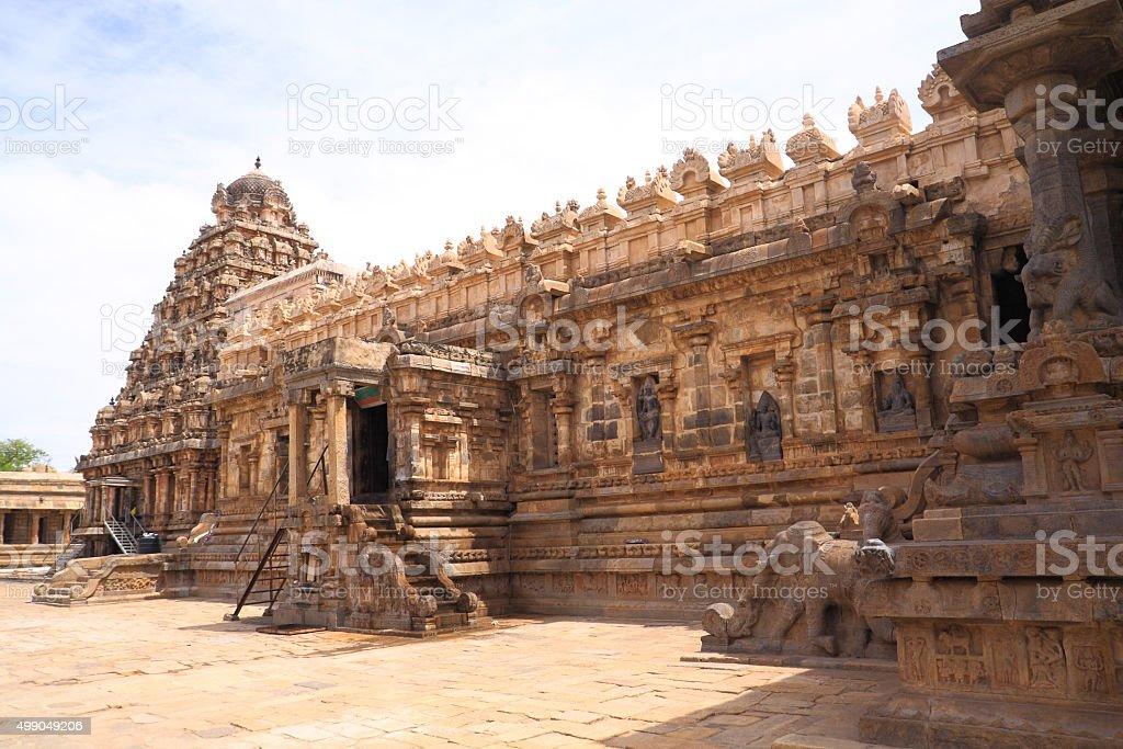 Gangaikonda cholapuram temple stock photo