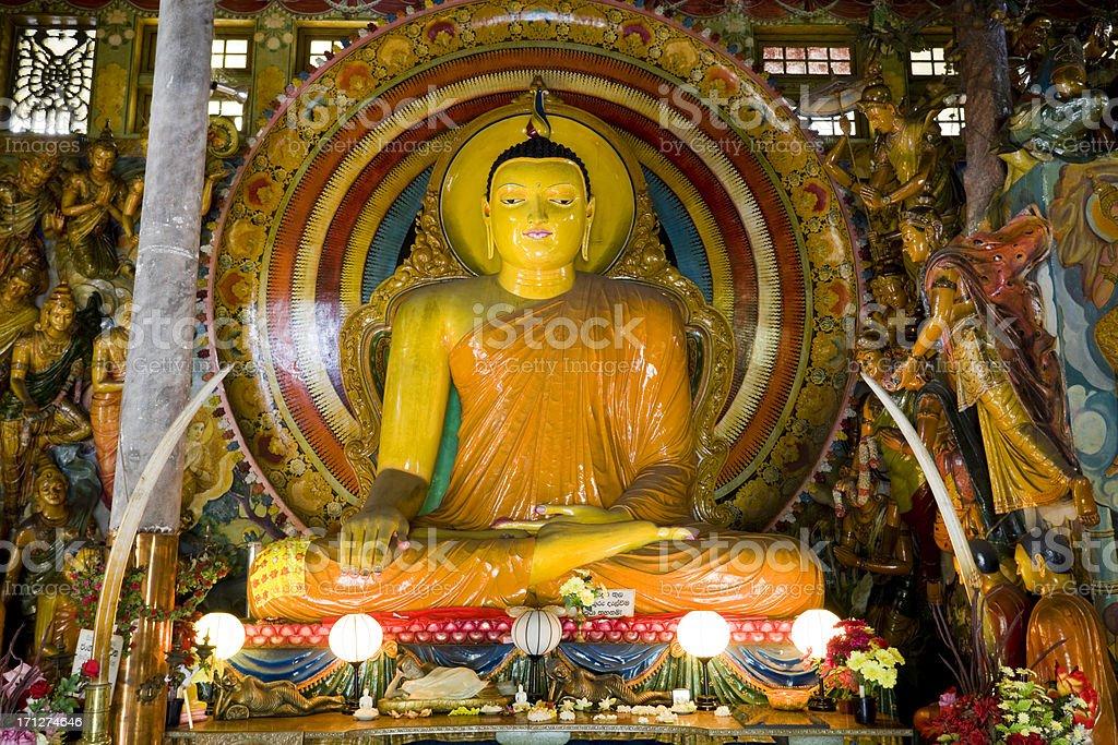 Gangaramaya Temple Colombo Sri Lanka stock photo