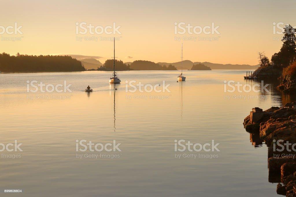 Ganges Harbor, British Columbia stock photo
