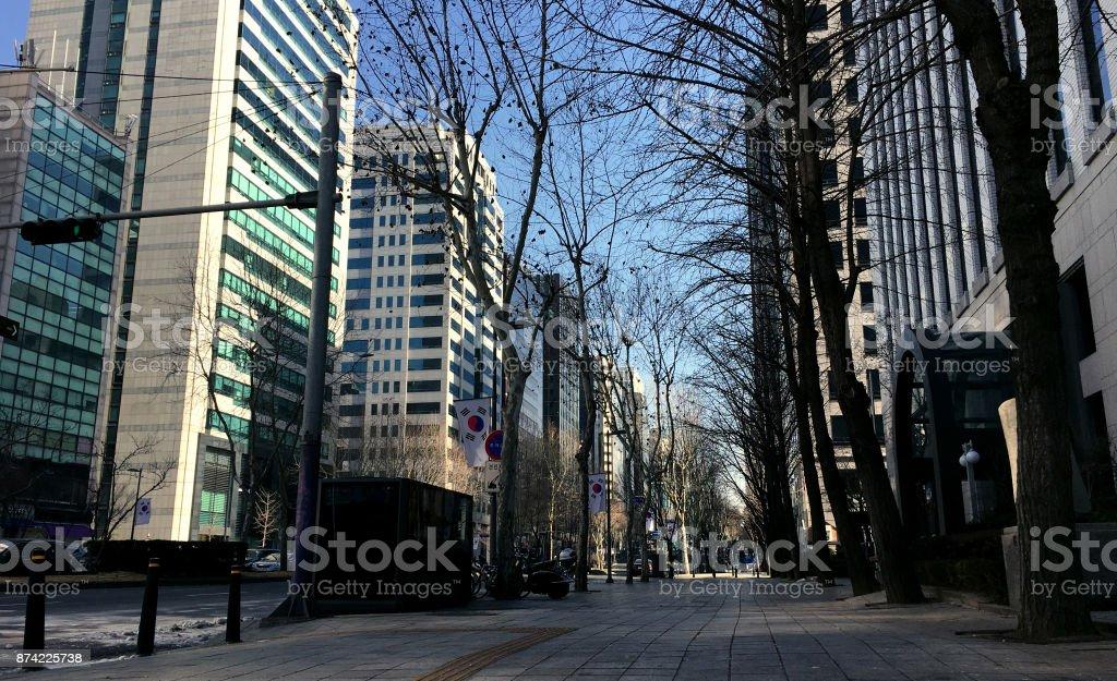 Gangnam street stock photo