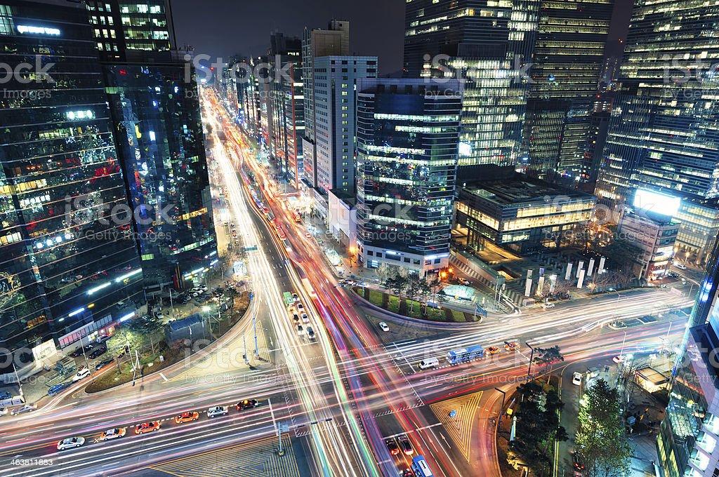 Gangnam Traffic stock photo