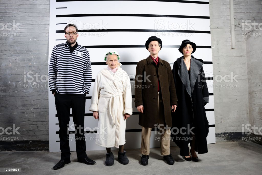 Gangster family royalty-free stock photo