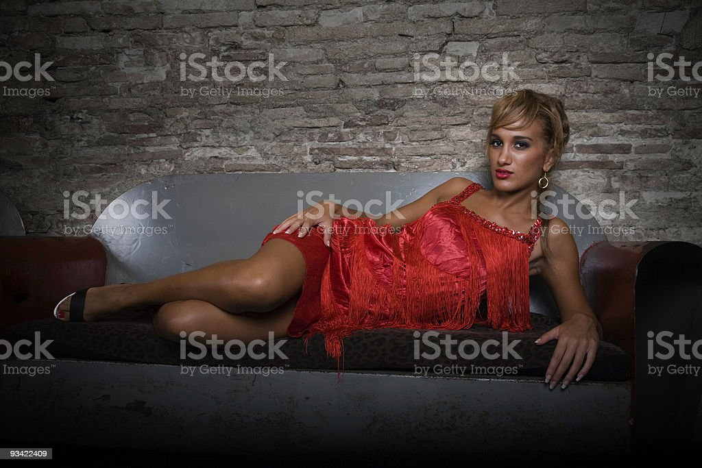Gangster Girl royalty-free stock photo