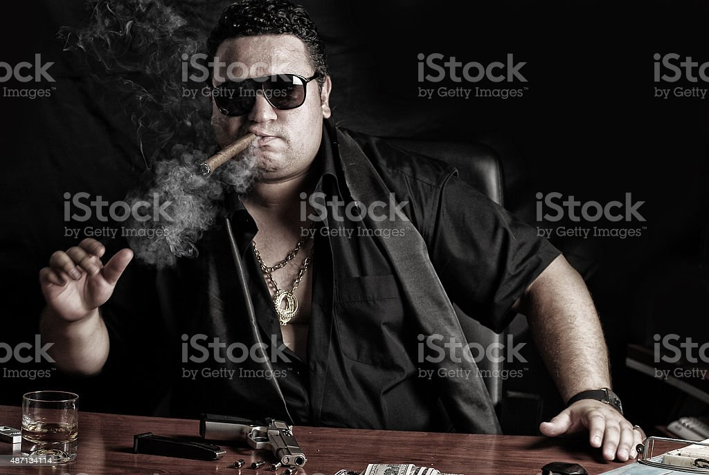 Gangster Man stock photo