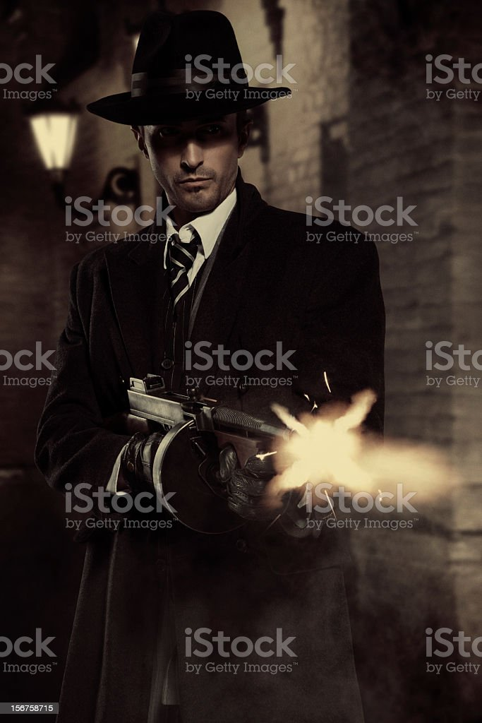 Gangster royalty-free stock photo
