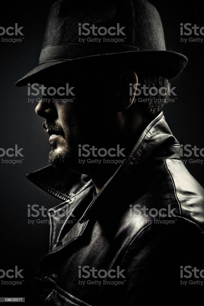 gangster profile royalty-free stock photo