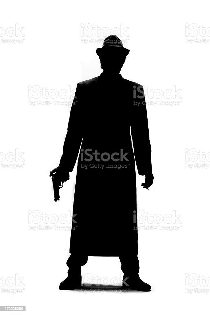 Gangster Silhouette royalty-free stock photo