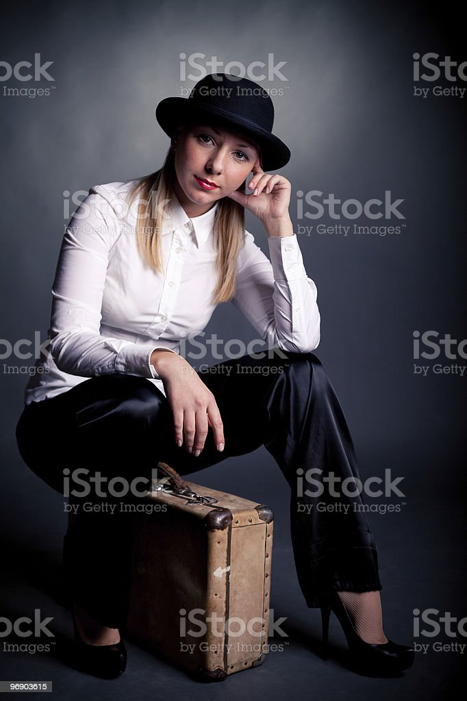 gangster styled women royalty-free stock photo