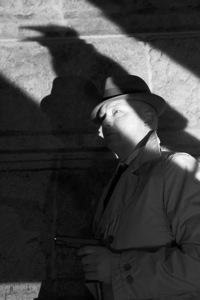 Gangster mit raven shadow-Film-Noir – Foto