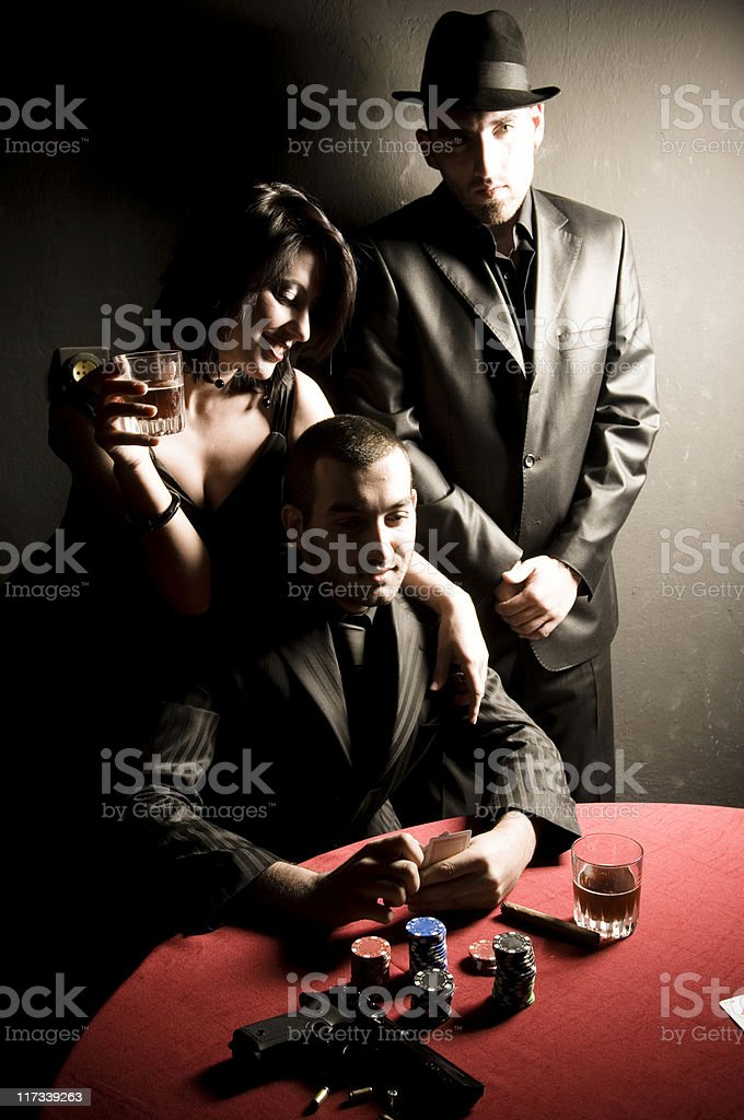 Gangsters stock photo