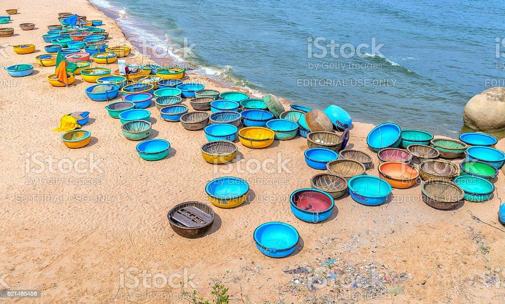 Ganh Son Beach on sunny afternoon Lizenzfreies stock-foto