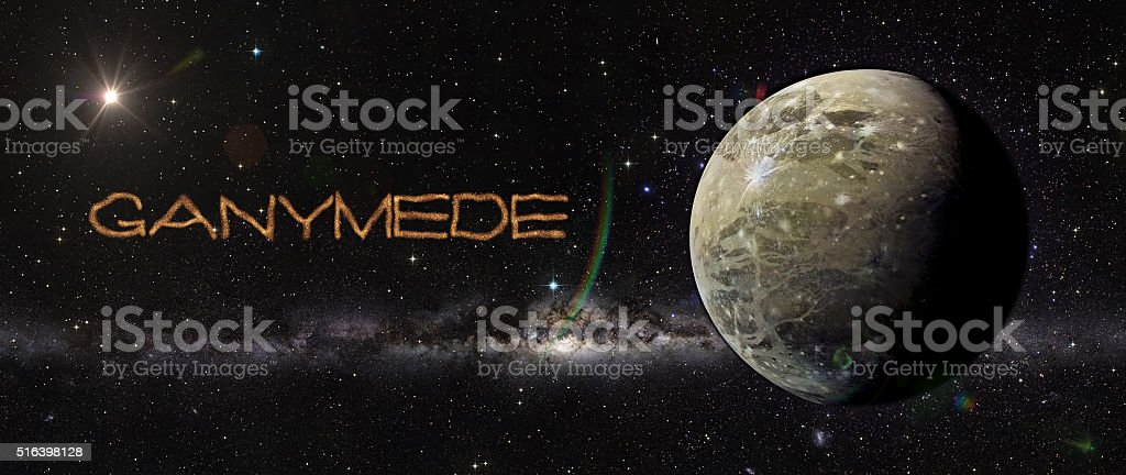 Ganimede in outer space. stock photo