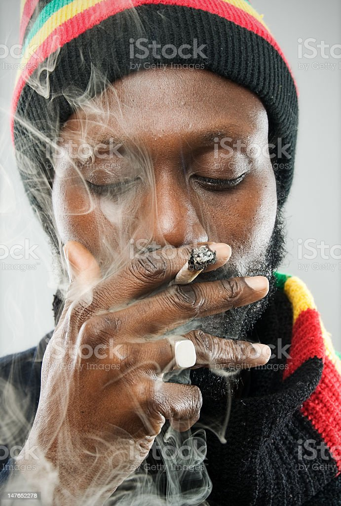 Ganja time man! stock photo