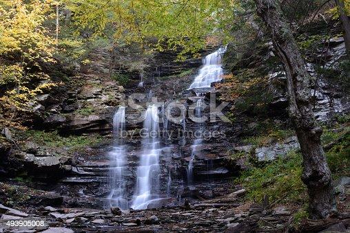 istock Ganoga Falls in Autumn at Ricketts Glen State Park 493905008
