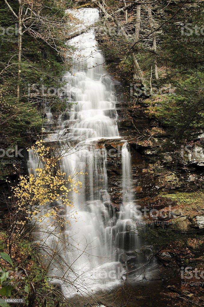 Ganoga Falls, Ricketts Glen State Park, PA stock photo