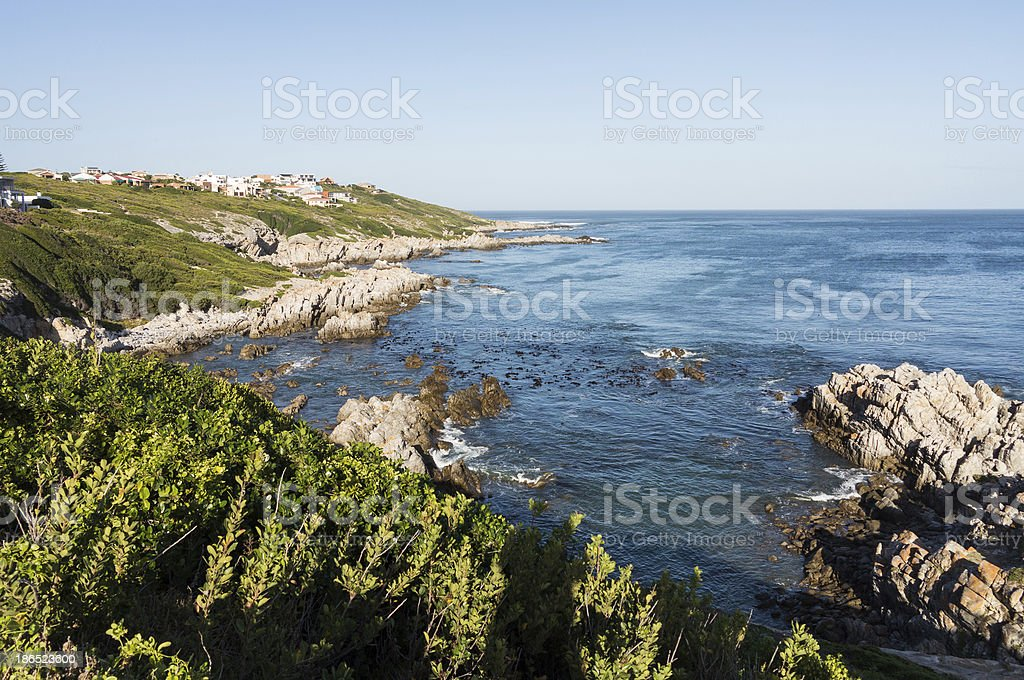 Gansbaai coastline in South Africa royalty-free stock photo