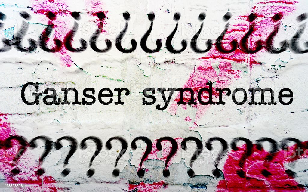 Ganser syndrome royalty-free stock photo