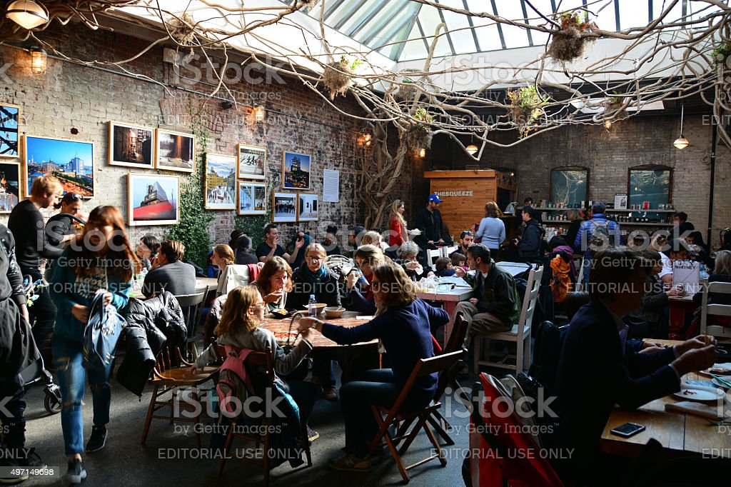 gansevoort food market Manhattan stock photo