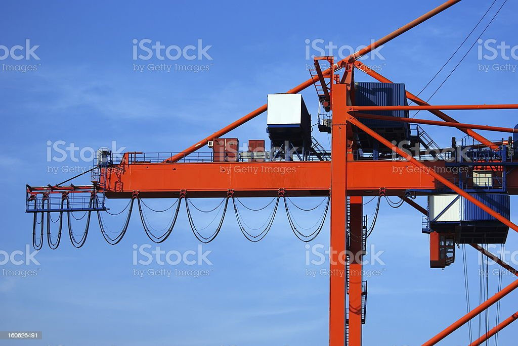 Gantry crane royalty-free stock photo