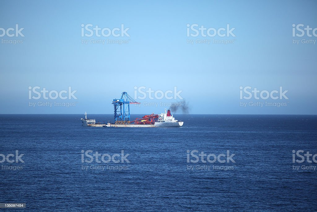 Gantry Crane transport Ship royalty-free stock photo