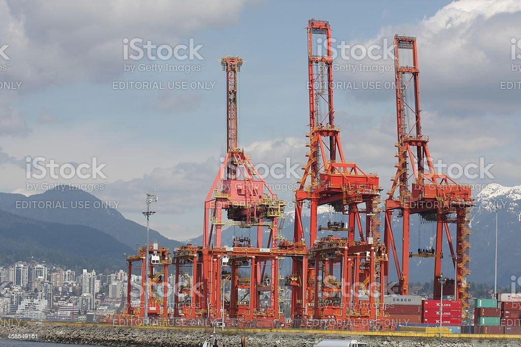 Gantry Cranes At Container Terminals Vancouver British
