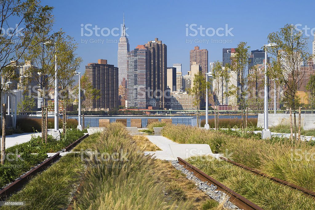Gantry Plaza State Park NYC stock photo