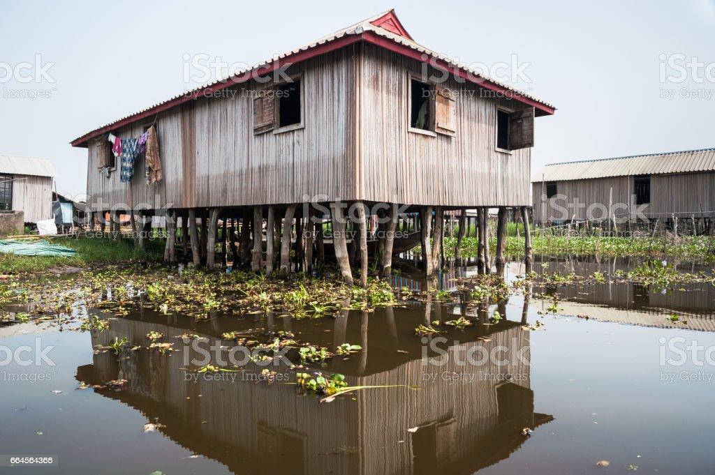 Ganvie, Lago Nokoue, Benin. Maior aldeia empolada em África - foto de acervo