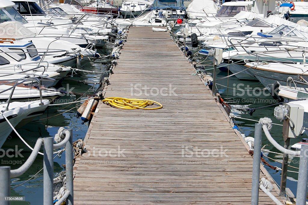 Ganway in Malaga marina. royalty-free stock photo