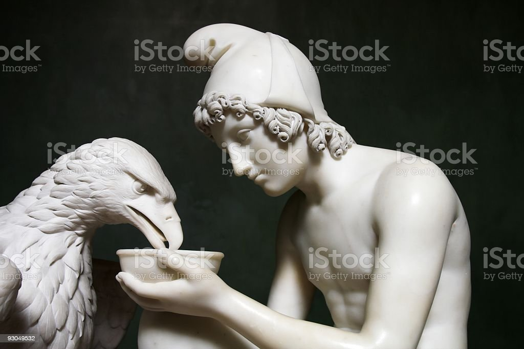 Ganymedes and Jupiters Eagle. stock photo