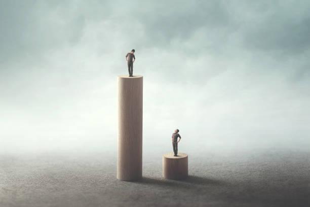 gap inequality concept stock photo