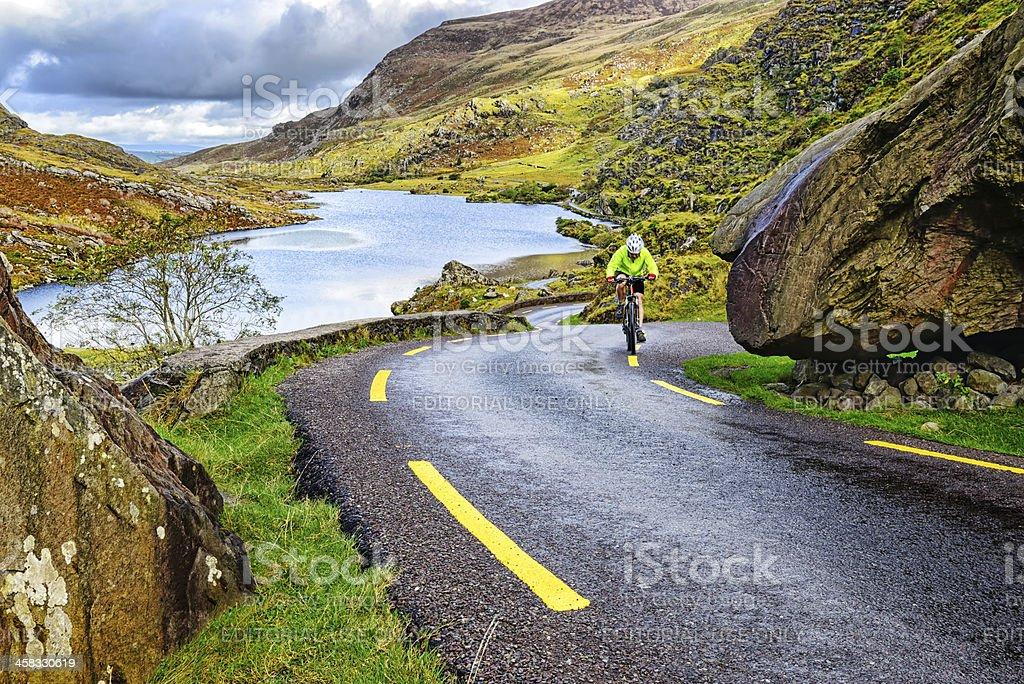 Gap of Dunloe Mountain Pass, Ireland stock photo