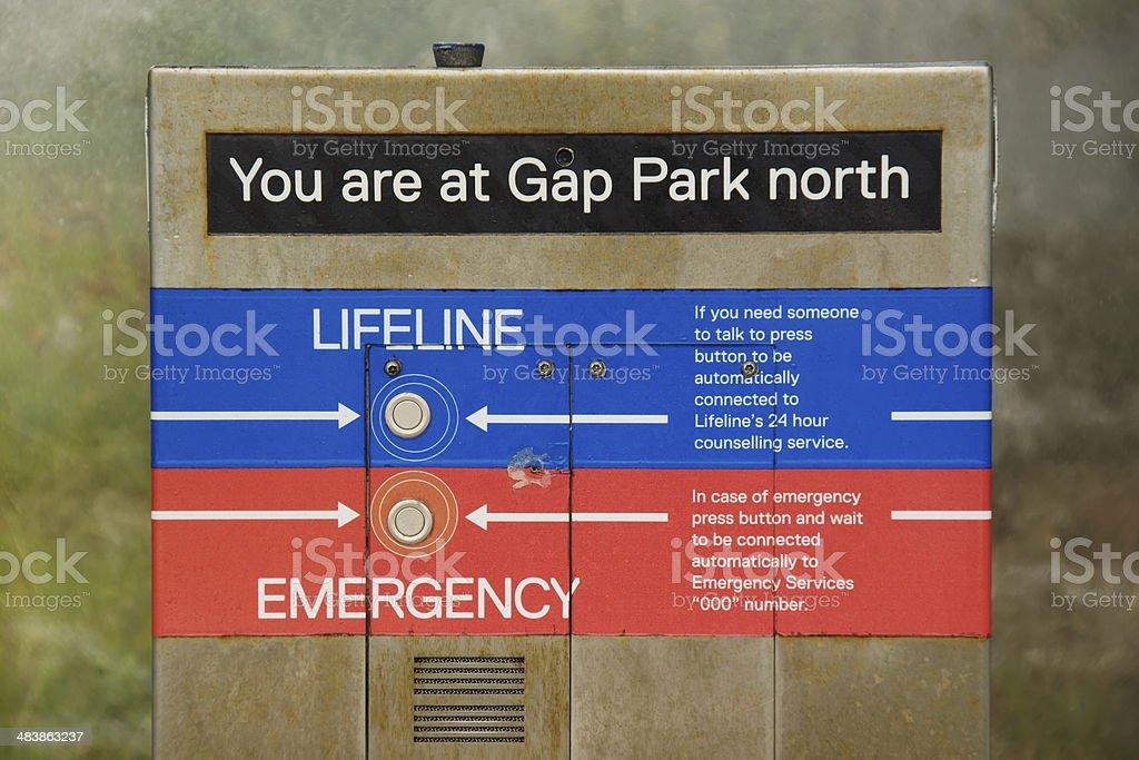Gap Park Emergency Phone stock photo