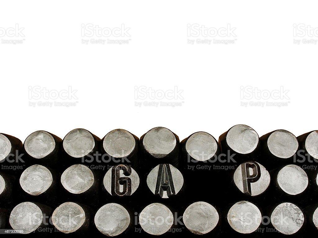 gap royalty-free stock photo