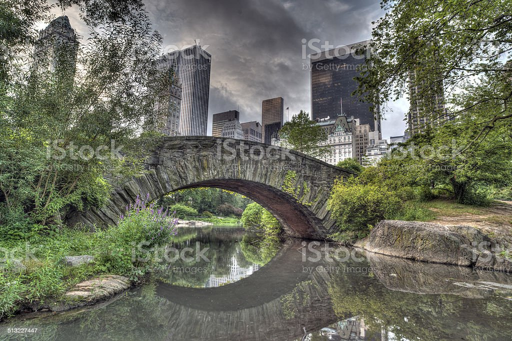 Gapstow bridge Central Park, New York City stock photo