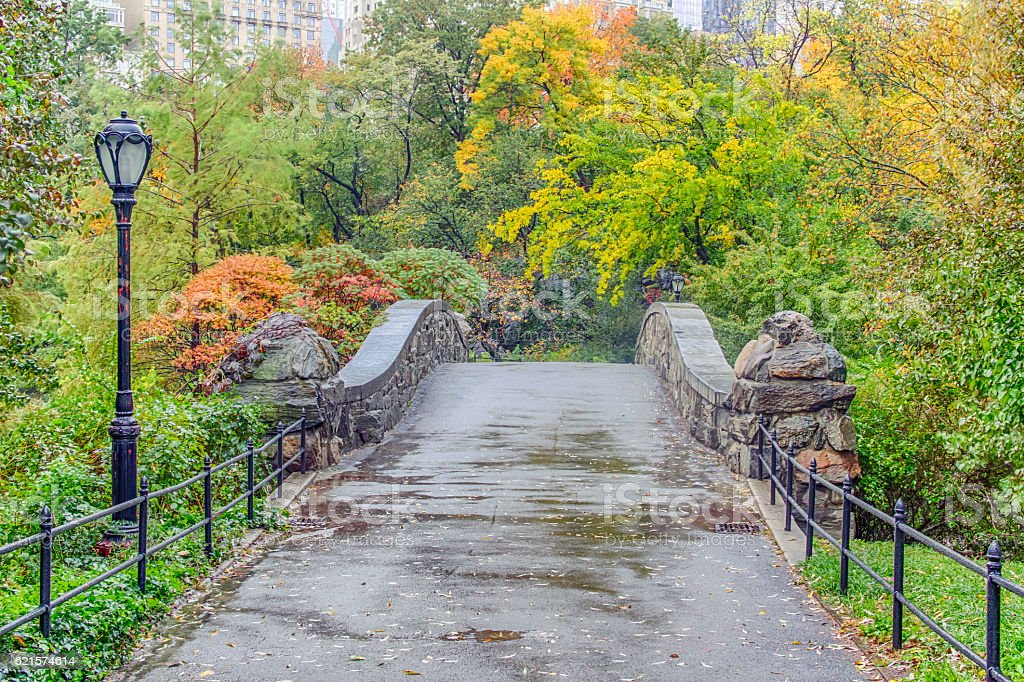 Gapstow Pont de Central Park, New York City photo libre de droits