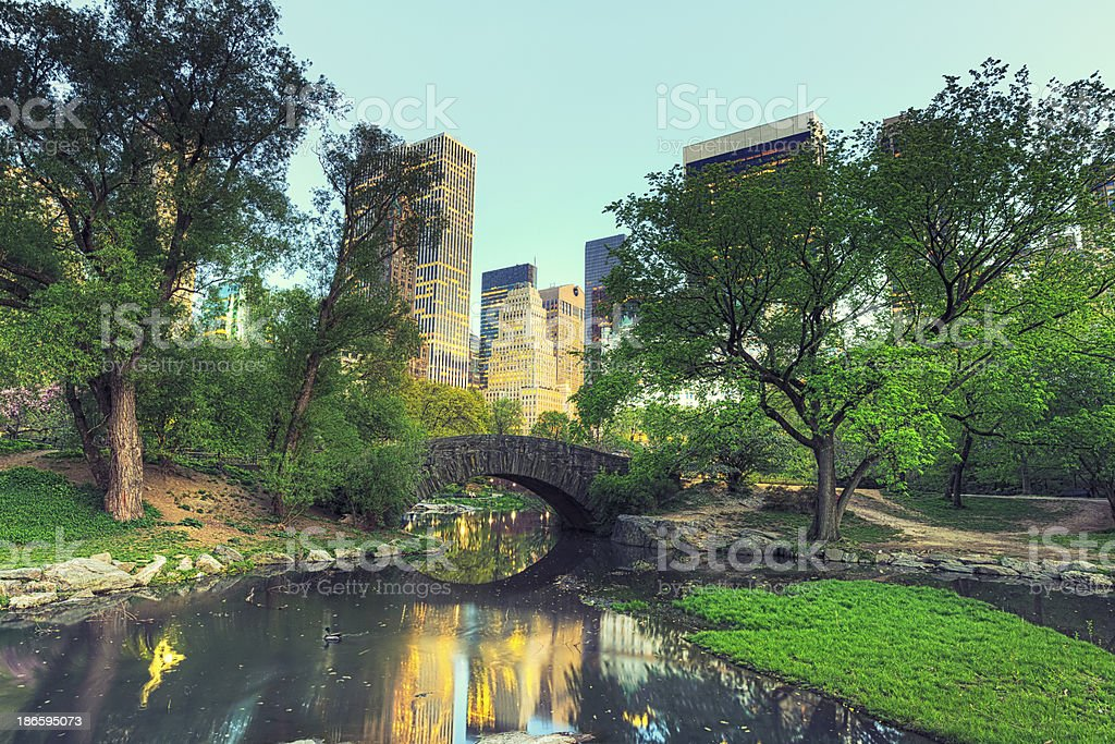 Gapstow Bridge in Central Park, New York City stock photo