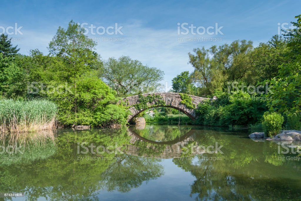 Gapstow bridge in Central Park, NYC stock photo