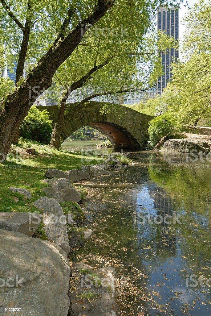 Gapstow Bridge in central park royalty-free stock photo