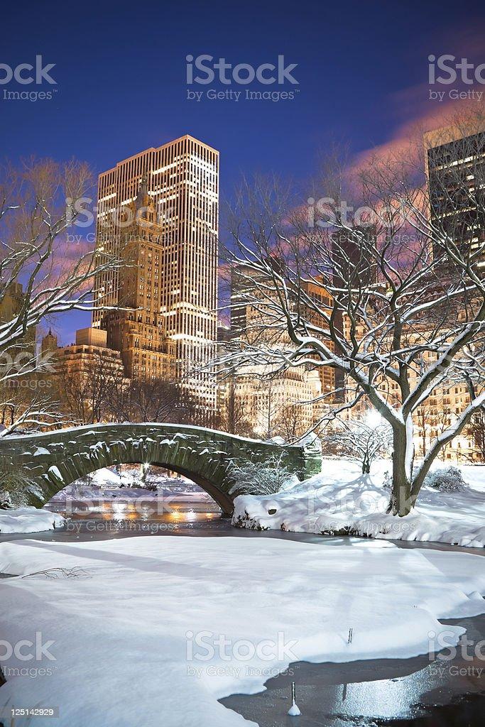 Gapstow bridge, New York City stock photo