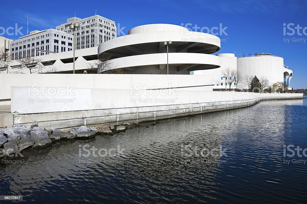 Garage by the Lake royalty-free stock photo