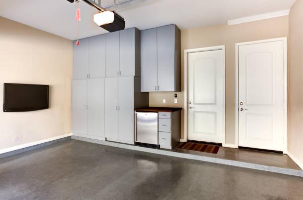 Garage Cabinets stock photo