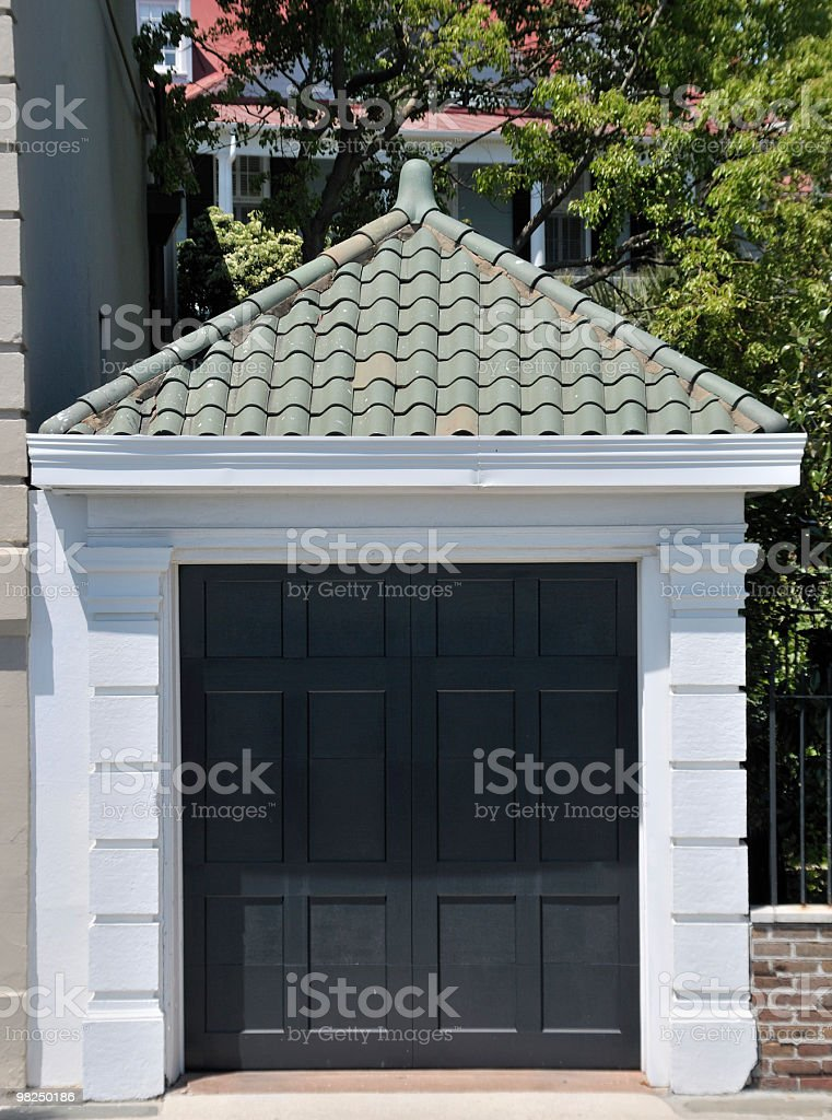 Garage, Charleston, South Carolina royalty-free stock photo